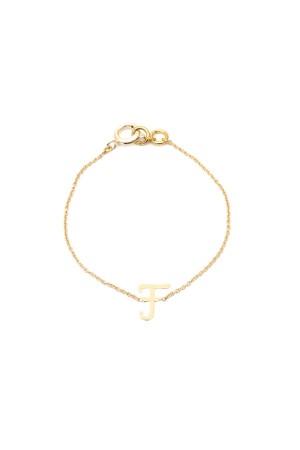 PETITE JEWELRY - F - Letter Bracelet