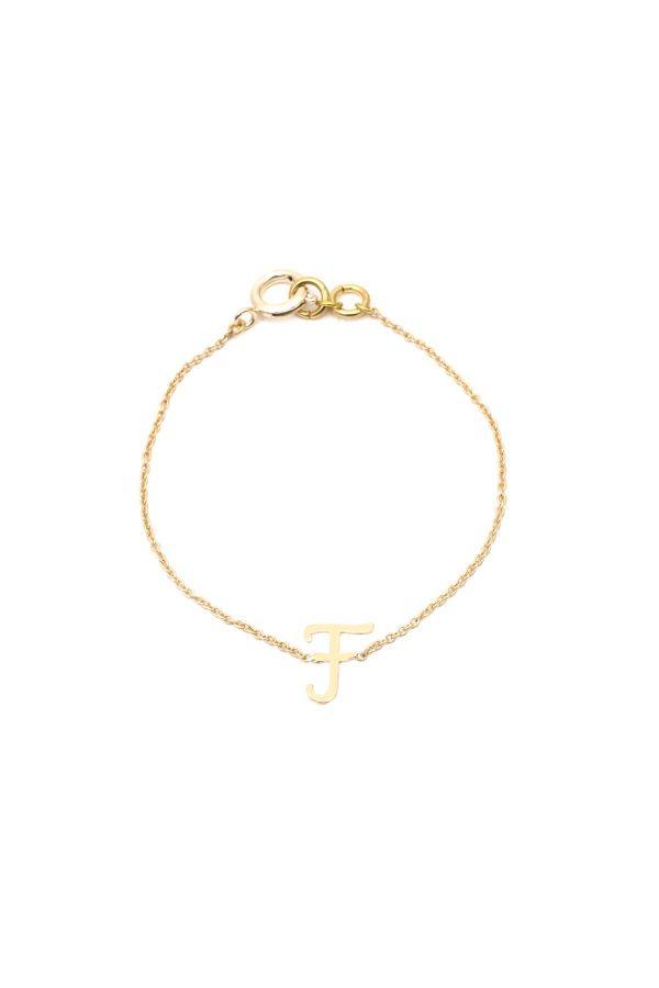F - Letter Bracelet