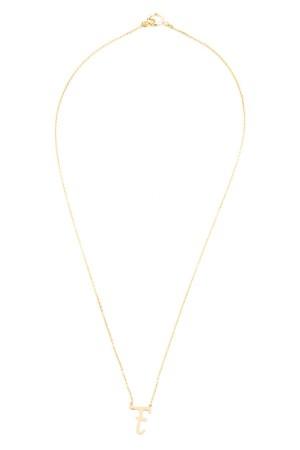 PETITE JEWELRY - F - Upper Case Initial Necklace