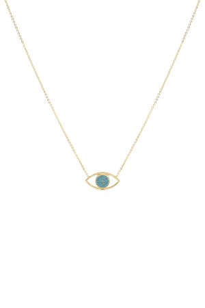COMFORT ZONE - FACE OFF - Two Sided Eye Necklace