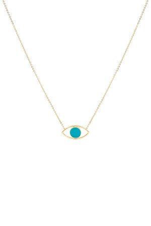 COMFORT ZONE - FACE OFF - SAPPHIRE - Two Sided Evil Eye Necklace (1)