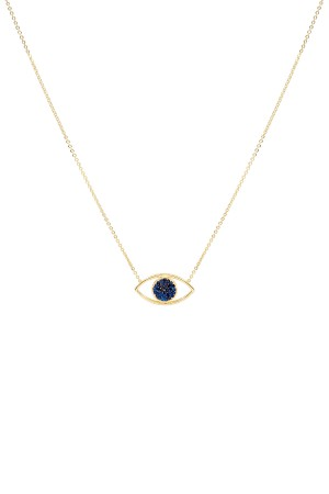 COMFORT ZONE - FACE OFF - SAPPHIRE - Two Sided Evil Eye Necklace