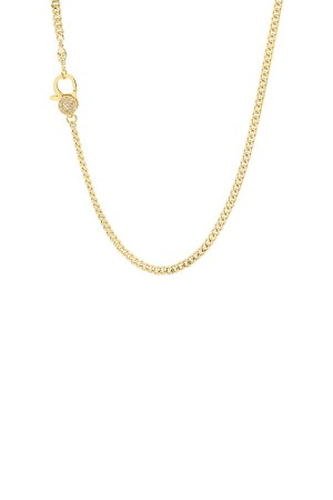 PETIT CHARM - FACETED - CZ Lobster Clasped Chain (1)