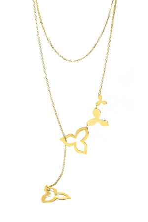 SHOW TIME - FALLING LEAVES - Lariat Necklace
