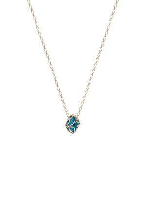 COMFORT ZONE - FILIGREE - Blue Beaded Pendant Necklace