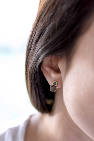 PLAYGROUND - FINEAPPLE - CZ Pineapple Studs (1)