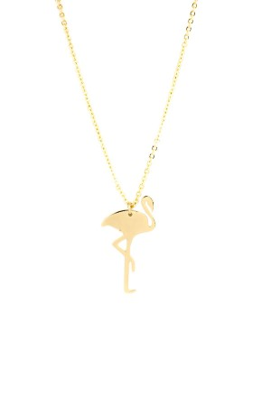 PLAYGROUND - FLAMINGO GOLDEN - Pendant Necklace