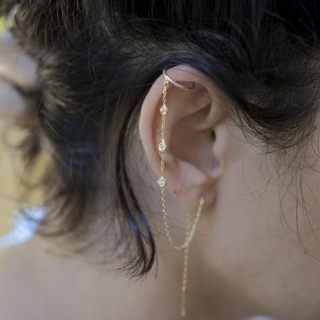 PETITE JEWELRY - FLOW - Zincirli Kulak Aksesuarı