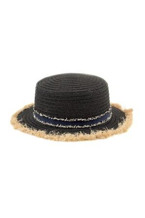 HAPPY SEASONS - FRINGE - Siyah Saçaklı Şapka