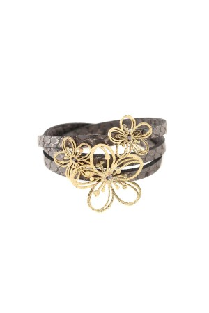 PLAYGROUND - FULL OF VIOLA - Floral Wrap Bracelet