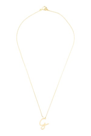 PETITE JEWELRY - G - Hand Script Initial Necklace