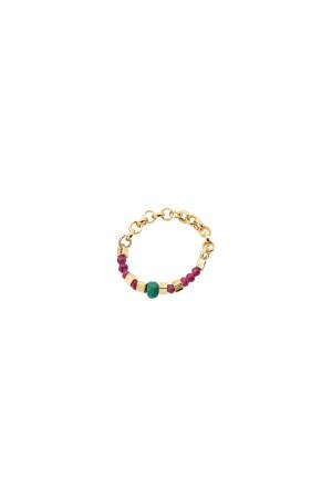 PLAYGROUND - GARNET - Elastic Chain Ring