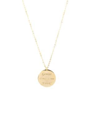 PETITE JEWELRY - GEMINI - Customized Zodiac Sign Necklace (1)