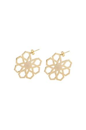 BAZAAR - GEOMETRIC STAR - Hoop Earrings