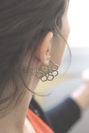 BAZAAR - GEOMETRIC STAR - Hoop Earrings (1)