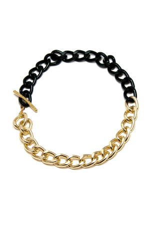 COMFORT ZONE - GOLDEN BLACK - Bold Chain Necklace