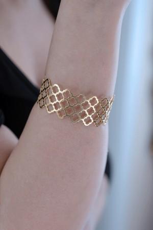PETITE JEWELRY - GOLDEN CAGE - Cuff Bracelet (1)