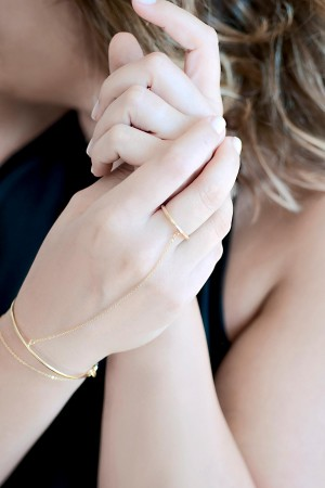 COMFORT ZONE - GOLDEN CUFF RING - Şahmaran (1)