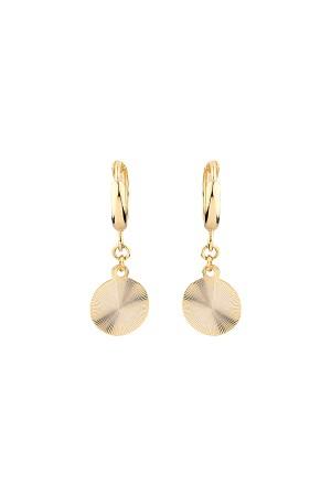 COMFORT ZONE - GOLDEN DISC - Hoop Earrings