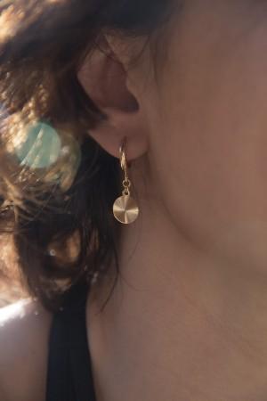 COMFORT ZONE - GOLDEN DISC - Hoop Earrings (1)