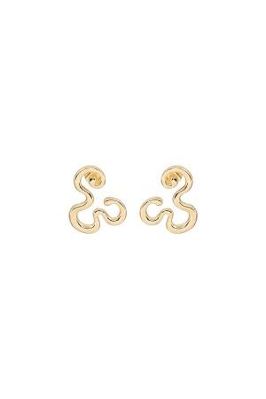COMFORT ZONE - GOLDEN FLOW - Gold Stud Earrings