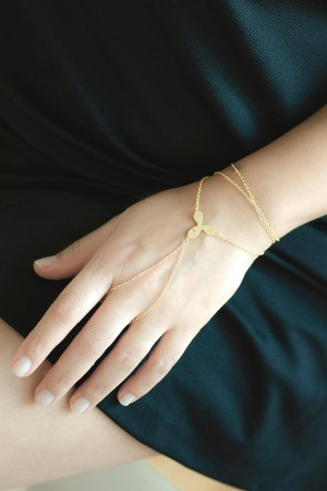 COMFORT ZONE - GOLDEN FLOWER - Finger Bracelet (1)