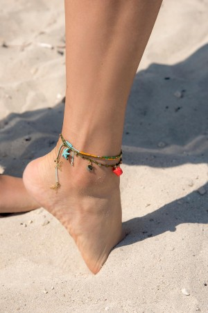 PLAYGROUND - GOLDEN ORANGE ANKLET - Anklet (1)