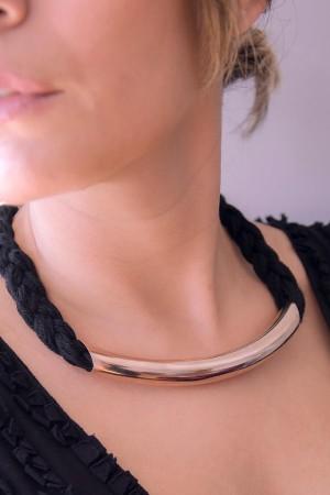 BAZAAR - GOLDEN PIPE - Choker Necklace (1)