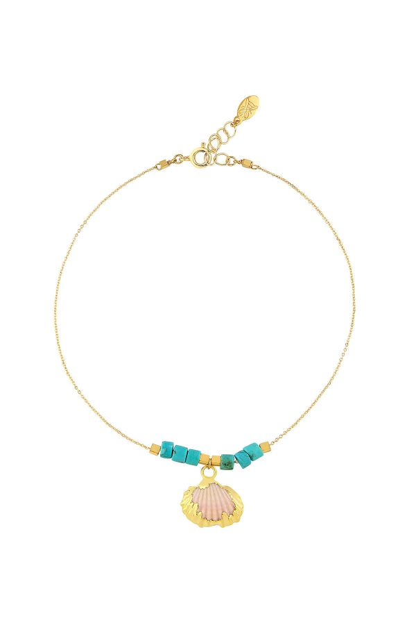 GOLDEN SEA - Electroformed Seashell Anklet