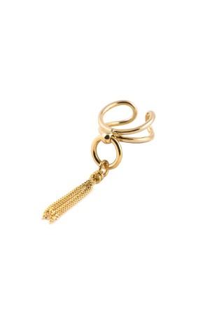 COMFORT ZONE - GOLDEN TASSEL - Tassel Ring
