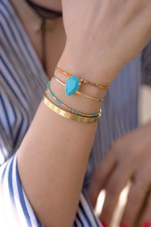 PLAYGROUND - GOLDEN TURQUOISE - Adjustable Bracelet (1)