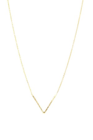 COMFORT ZONE - GOLDEN V - Minimalistic Necklace