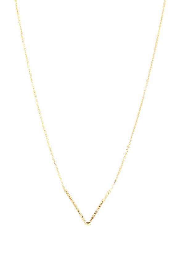 GOLDEN V - Minimalistic Necklace
