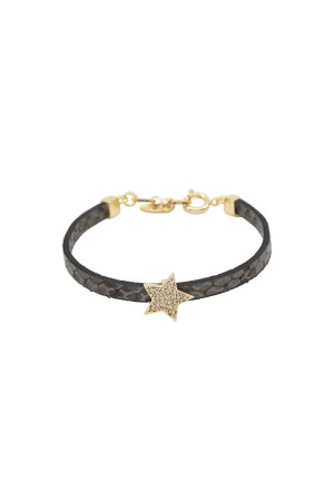 PLAYGROUND - GRAY STAR - PU Leather Bracelet