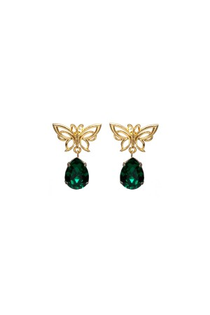 SHOW TIME - GREEN BUTTERFLY - Dangle Earrings