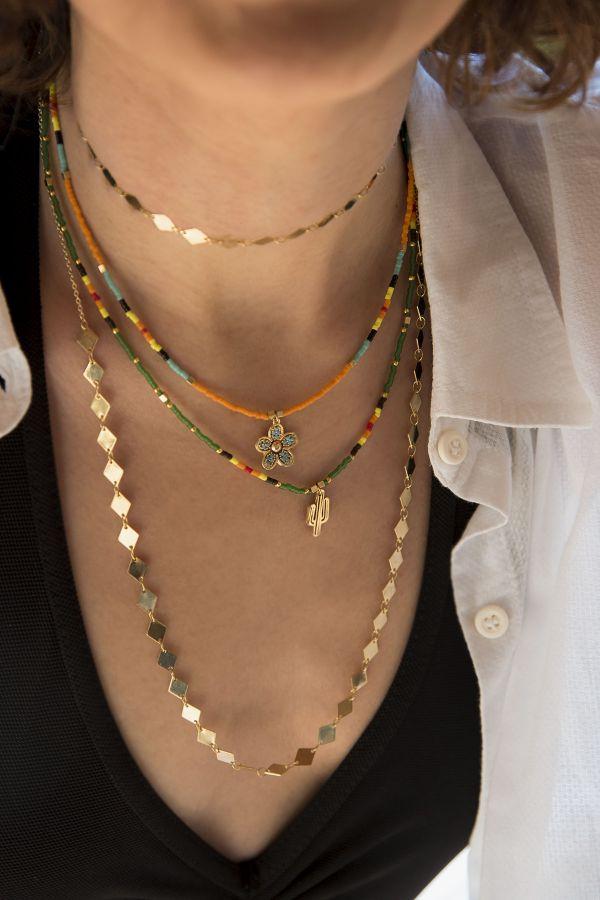GREEN DESERT - Cactus Pendant Necklace
