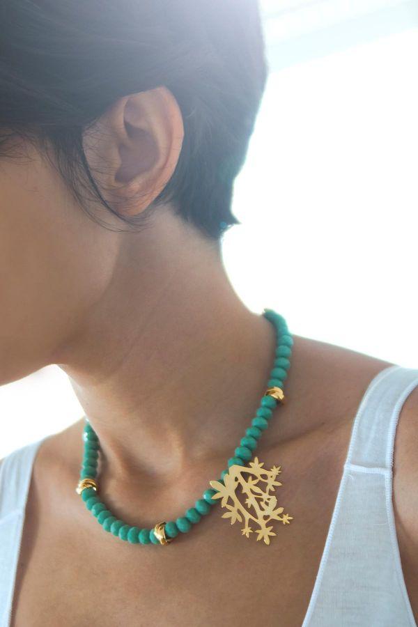 GREEN GARDEN - Crystal Necklace