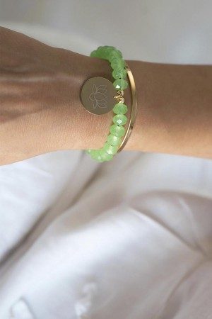 PLAYGROUND - GREEN LOTUS - Stacking Bracelets (1)