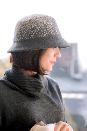 HAPPY SEASONS - GREY - Grey Wool Hat (1)