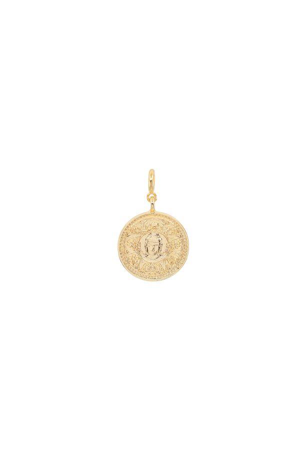 GURU - Buddha Detaylı Madalyon Charm