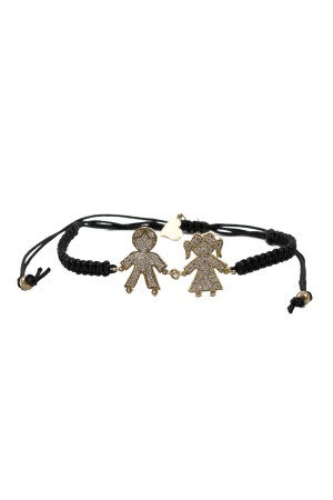 BAZAAR - HAPPY FAMILY - Girl and Boy Figure Bracelet