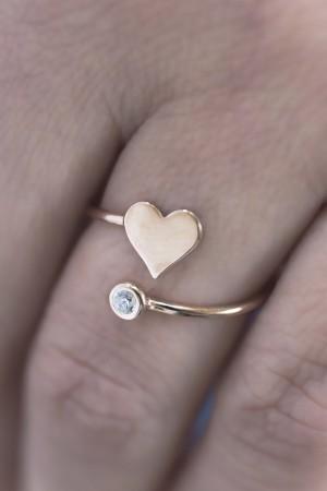PETITE JEWELRY - HEART DIAMOND - CZ Ring