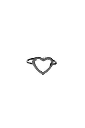 BAZAAR - HEART IN BLACK - Kalp Yüzük