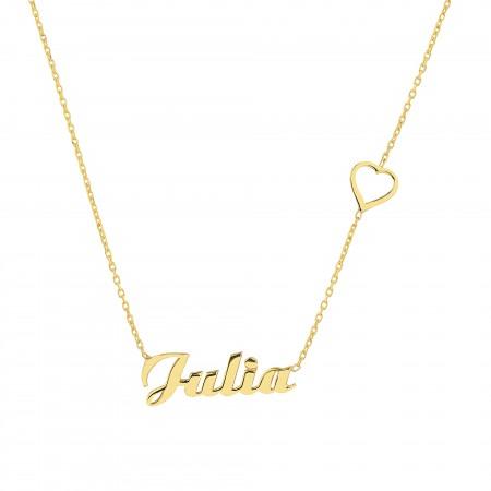 PETITE JEWELRY - HEART - Kalpli İsim Kolye (1)