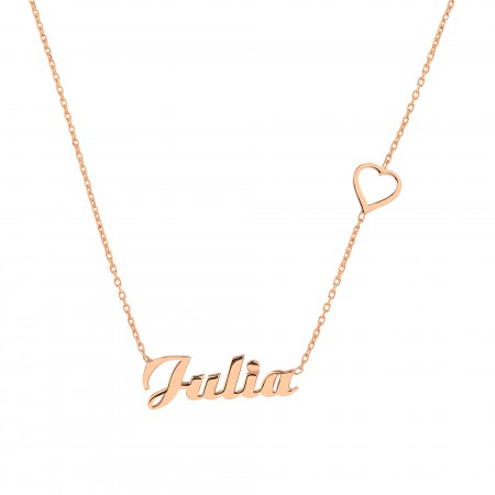 PETITE JEWELRY - HEART - Name Necklace with Heart