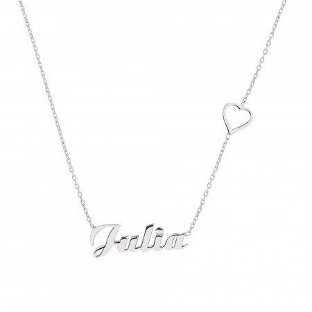 HEART - Name Necklace with Heart - Thumbnail