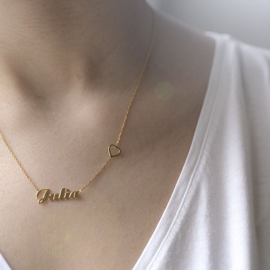 HEART - Name Necklace with Heart