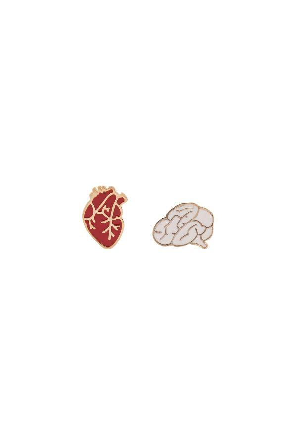 HEART OR BRAIN - Shoe Pin