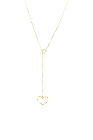 PLAYGROUND - HEART TO HEART - Altın Kaplama Kolye