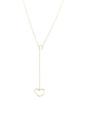 BAZAAR - HEART TO HEART - Altın Kaplama Kolye
